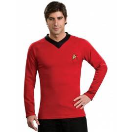 disfraz de star trek scotty clsico rojo