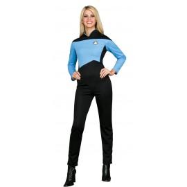 disfraz de cientfica azul star trek la nueva generacin para mujer