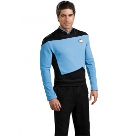 disfraz de cientfico azul star trek la nueva generacin para hombre
