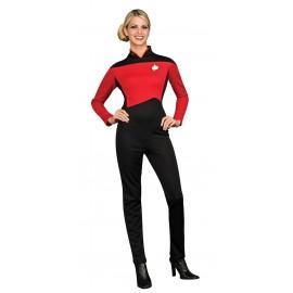 disfraz de comandante rojo star trek la nueva generacin para mujer