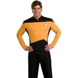 disfraz de jefe de operaciones dorado star trek la nueva generacin para hombre