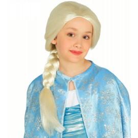 Peluca princesa Frozen niña