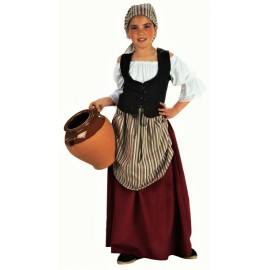 Disfraz de Pastora Mesonera Tabernera para niña