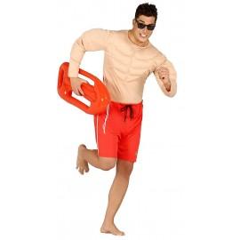 Disfraz de Socorrista Vigilante de la Playa Musculoso