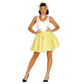 Conjunto Pin Up Años 40 Amarillo