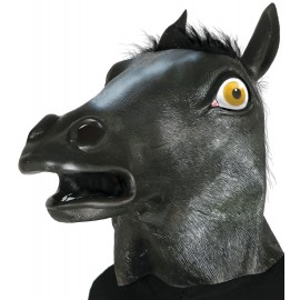 Careta Cabeza Caballo negra