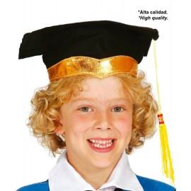 Sombrero estudiante graduado infantil