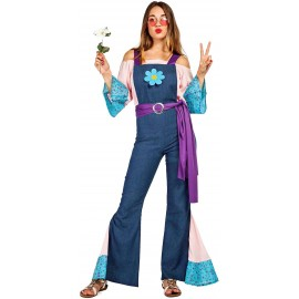 Disfraz de Hippie Flor para Mujer.