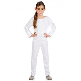 Maillot Mono Body de Punto en Color Blanco Infantil