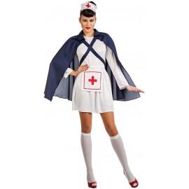 Disfraz de Enfermera con Capa para Mujer