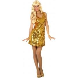 Disfraz de Fiesta Disco Dorado