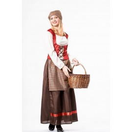 Disfraz de Pastora Mesonera Tabernera para Mujer