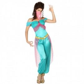 Disfraz de Bailarina Arabe en Color Turquesa