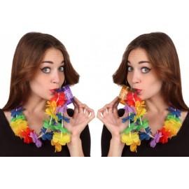 Collar de Flores Hawaiana con Vasito