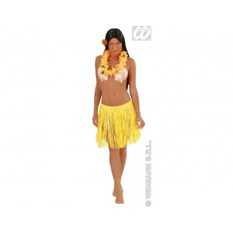Falda Hawaiana con Collar. (Amarillo)
