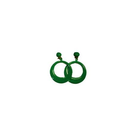 Pendientes Sevillana Medianos (Verde).