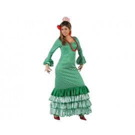 Disfraz de Sevillana Verde lunar