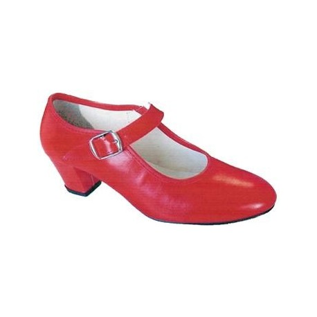 Zapatos Sevillana Color Rojo.