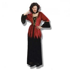 Disfraz Vampiresa Gótica en Color Granate