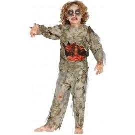 Disfraz Zombie Calavera para Niño.