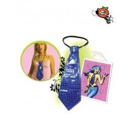 Corbata Pito lentejuelas azul