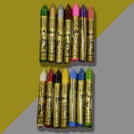 Barra GR Maquillaje Colores Oro Plata