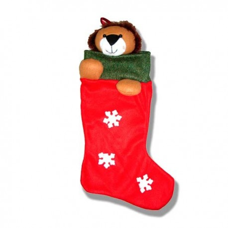 Bota Calcetín león navidad
