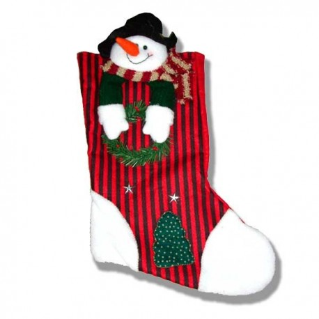 Bota Calcetín muñeco nieve