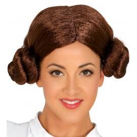 Peluca Princesa Leia Guerra de las Galaxias