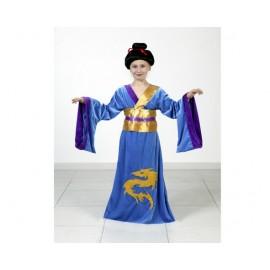 Disfraz de Japonesa Azul