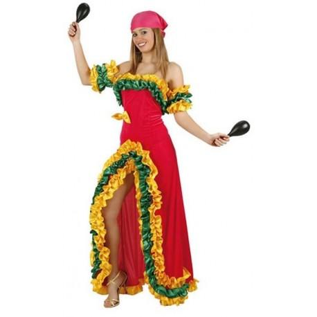 Disfraz de rumbera para niña - Imagui