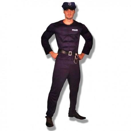 Disfraz policia musculoso