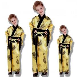 Disfraz geisha amarilla niña T-M