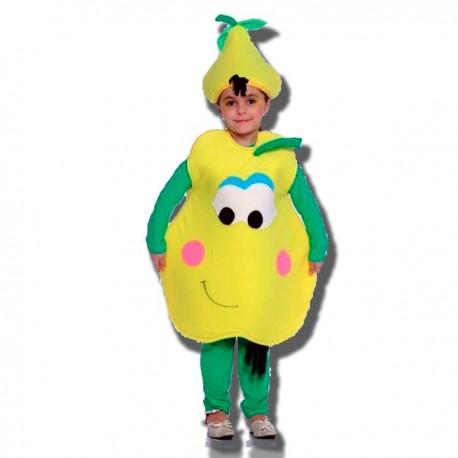 Disfraz de Pera para niñas T-4. Envío garantizado 48h