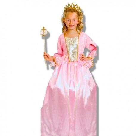 Disfraz princesa castillo rosa