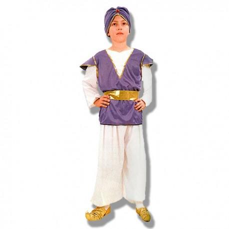 Disfraz Aladin morado infantil