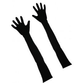 Guantes Negros Largos (44 cm)