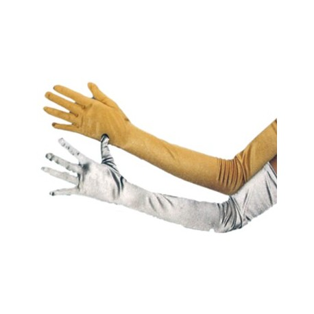 Guantes Largos Color Oro