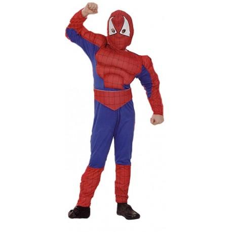 Niño araña musculoso