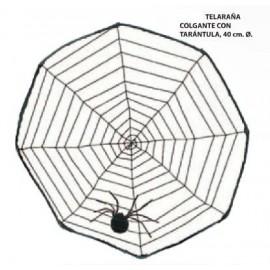 Telaraña Colgante con Tarantula
