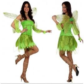 Disfraz de Hada Madrina Verde Campanilla