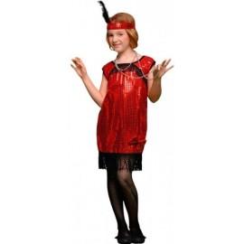 Disfraz de Charleston rojo (niña)