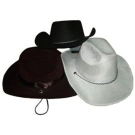 Sombrero Vaquero Negro Terciopelo