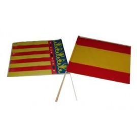 Bandera Comunidad Valenciana con Palo.