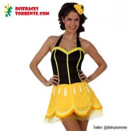 Disfraz fruta Limón para Chica