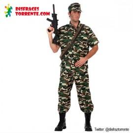 Disfraz Soldado Militar Camuflaje