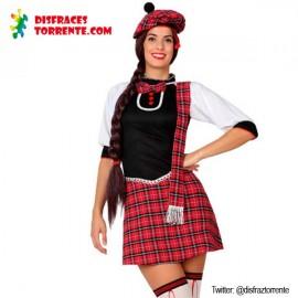 Disfraz Escocesa Sexy mujer