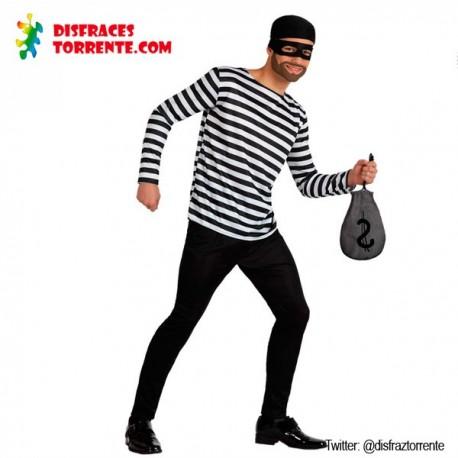 Disfraz de ladrón presidiario