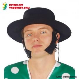 Sombrero Cordobés Adulto Fieltro Negro