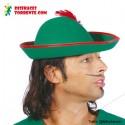Sombrero gorro de Robin Hood